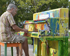 Playing Piano in the Park (remiklitsch) Tags: oakville ontario musicalmoment piano park merriammusic oakvillemakesmusic community art culture remiklitsch nikon
