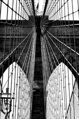 Bridge Web (pjpink) Tags: arches cables webbing blackandwhite bw monochrome brooklyn brooklynbridge bridge architecture nyc newyork newyorkcity ny june 2016 summer pjpink