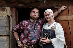 Jarl and his wife (Crones) Tags: canon 6d canoneos6d poland polishrepublic wolin skanzen viking vikings historicalvillage friend people portrait monika tpn canonef24105mmf4lisusm 24105mmf4lisusm 24105mm