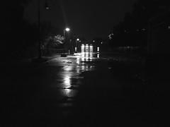 Shawmut Station, Dorchester, MA (don1775) Tags: mbta bw shawmutstation dorchester boston summer 2016 transporation redline subwaystation newengland rain night appleiphone6s