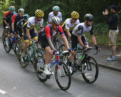 Mark Cavendish and Bradley Wiggins - Tour of Britain 2016, Bristol