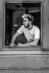 Me (lukajokhadze) Tags: me photographer luka jokhadze self myself blackwhite monochrome black bw white train crative photoshot