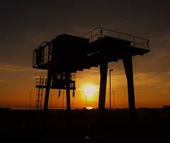 Crane Silhouette - Torness Coast (Gilli8888) Tags: sunrise sun dawn silhouette torness crane eastcoast industrial scotland