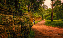 Country road, Cambodia (Stan Smucker) Tags: landscape countryroad cambodia travel life child world bicycle backroads