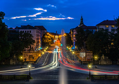 Blue Hour Traffic Lights (*Capture the Moment*) Tags: 2016 angelofpeace blauestunde bluehour fotowalk friedensengel headlights munich mnchen nachtaufnahmen nightshot prinzcarlpalais prinzregentenstrasse scheinwerfer sonya7ii sonyfe2470mmf4zaoss traffic trafficlights verkehr