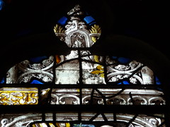 Stained glass detail (Andrea Kirkby) Tags: stained glass renaissance chartres aignan france