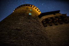 Turret of Malbrouck Castle (DeGrandDuke) Tags: nacht 24mm d750 walimex24mm malbrouck walimex sterne frankreich chteaumalbrouck gebude langzeitbelichtung lorraine night longexposure malbrouckcastle france nikon building turret castle stars