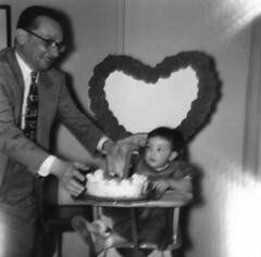 Gov. Flores and Granddaughter Connie, 1954