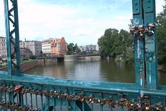 Romantic bridge Wroclaw
