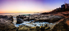 Point Taken, Mooloolaba, Queensland, Australia. (Matthew Post) Tags: ocean longexposure panorama seascape beach sunrise canon rocks waves post stitch matthew sigma australia queensland 1020mm sunshinecoast mooloolaba maroochydore alexandraheadland pointcartwright 60d matthewpost
