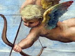 Raphael, Galatea, detail with right putti