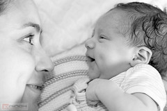 Face to face - 6 days old (Nino H) Tags: portrait girl women daughter mother newborn nouveau fille n