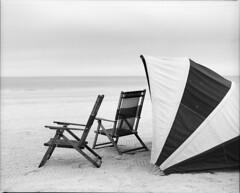 Beach Chairs (IreJustin) Tags: mamiya film beach fuji chairs florida fl 100 f28 clearwater acros 110mm