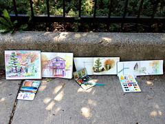 081912USkChicago (Barbara Weeks) Tags: urban chicago urbansketchers urbansketchersmidwest uskchicago