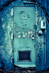 The door at the end of you (geoffmart65) Tags: door canon underground eos shelter colorefex 40d niksoftware