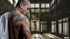 Phuk' in de DoJo (D'MYS PHOTOGRAPHY) Tags: light tattoo studio asian fight karate dojo asianboy 50d asiat strobist dmys
