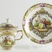 207. 19th century Pot de Cream with Saucer