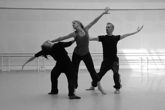 Three & Four Quarters rehearsals © ROH 2012