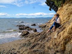 Waiti Bay (russelljsmith) Tags: winter newzealand sun beach fleur sunshine coast sand sundaydrive firthofthames 77285mm waitibay