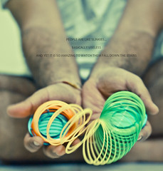 312/365. People Are Like Slinkies. (Anant N S) Tags: people india vintage palms photography 50mm hands stair quote fingers faded slinky pune quotation slinkies malehands project365 niftyfifty anants plasticslinky quotephotography lensor anantns thelensor anantnathsharma slinkyquote peoplearelikeslinkies peoplearelikeslinkiesbasicallyuselessyetitissomuchfuntowatchthemfalldownthestairs falldownthestairs colorslinky funnyquotephoto