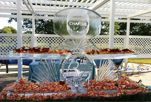 Charter Seafood Display ice sculpture