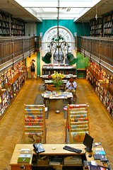Daunt Books in London Merylebone (Ayano0710) Tags: lighting travel people color london history colorful maps streetphotography oldbuildings myfavorite bookshop travelbooks canonef24105mmf4lis dauntbooks marylebonehightstreet canoneos7d
