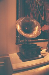 Phonograph (MaskedPanda) Tags: film 35mm la lomo lomography sardina vinyl record domino phonograph