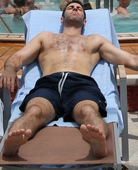 Toes Sole Knees (LarryJay99 ) Tags: cruise people hairy man male feet pits foot toes chesthair hunk caribbean soles hairylegs stud hunks studs armpits stockcategories canonefs18135mmf3556is allureofthesea