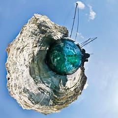 Kleftiko little planet (amfipolos) Tags: sea summer panorama rock photoshop island boat sailing greece cyclades sonycybershot milos polarcoordinates καλοκαίρι θάλασσα νησί littleplanet stereographicprojection κυκλάδεσ μήλοσ pixelbender κλέφτικο