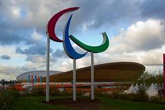 London 2012 Paralympics Agitos and the Velodrome (reiver iron - RMDPhotos.co.uk) Tags: london basketball symbol stadium games arena olympic velodrome 2012 olympiad paralympic agitos