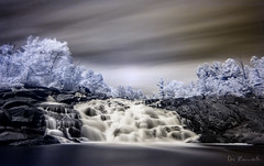 Invisible Nature (Don Komarechka) Tags: longexposure color nature water contrast canon landscape ir waterfall invisible surreal fantasy infrared 1dx donkom 16minute