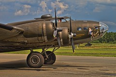 THE MEMPHIS BELLE [EXPLORED] (NC Cigany) Tags: color history plane airplane nc war memphis wwii romance historic explore b17 guns bomber flyingfortress pinup heros sanford canons memphisbelle raleighexecutiveairport