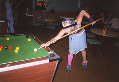 Rack em up (Gary Kinsman) Tags: 2002 playing london film students pool fashion youth bar table fun student punk university young rack hampstead wacky hallsofresidence nw3 kingscollegelondon kcl childshill studentcampus kidderporeavenue hampsteadstudentcampus hampsteadstudentbar