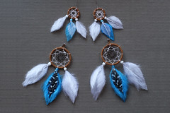 Commission  (. Paillette .) Tags: diy handmade sd bjd pullip earrings commission doreilles abjd dreamcatcher boucles msd bouclesdoreilles faitmain surmesure attraperve