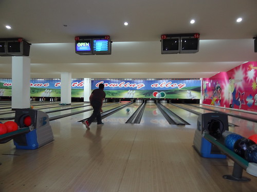 Ten pin bowling after dinner