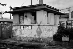 Signal box near Kispest railway station - Budapest, Hungary (pacs_425) Tags: bw film analog hungary kodak epson fed2 industar26m industar bw400cn c41 jobo v500 tetenal kispest cpe2 colortec