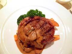 Filet Mignon with mushroom sauce [Wholly Cow Restaurant]