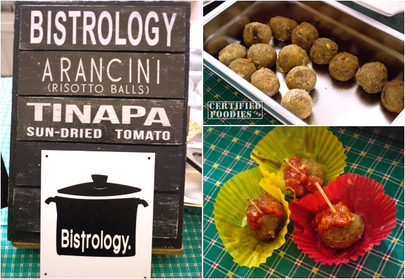 Bistrology's Arancini or Risotto Balls with Tinapa and Sun-dried Tomatoes