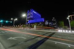 Oliver Bruns-5129.jpg (oliverbruns) Tags: cars traffic streetlight blue night abu dhabi architecture cleveland clinic abudhabi clevelandclinic