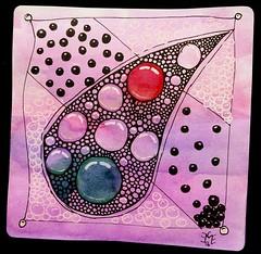 TippleMono1 (christiane_eichler) Tags: color pen pencil ink watercolor drawing background doodle tangle bleistift stift zeichnung zeichnen tusche zentangle monotangle