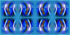 Double Take (Joe Vance aka oliver.odd) Tags: blue light abstract color art geometric design wings space revs robots mirrored propeller charged androids