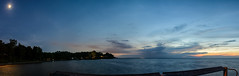 Transition (the Mack4) Tags: 2016 august newyork panorama webster websterpark water lakeontario sunset bluehour moon stars slowshutter