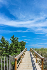 Beach Boardwalk (Andrew wildlife) Tags: boardwalk beach dunes walkway clouds wideangle summer bethanybeach delaware