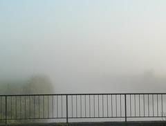 without a view (achatphoenix) Tags: early earlymorning fog foggy misty august water eau eastfrisia onthebridge aqua wasser ostfriesland brumedumatin