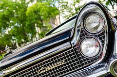Continental glitz (GmanViz) Tags: gmanviz color car automobile detail nikon d7000 1959 lincoln grille bumper headlights chrome badge script