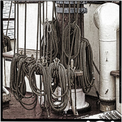 ship sail ropes (j.p.yef) Tags: peterfey jpyef yef sailships monochrome bw sw square ropes sailropes