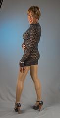 Leggy & Lacey! (kaceycd) Tags: crossdress tg tgirl lycra spandex bodysuit leotard minidress seethrough seethru pantyhose highheels stilettoheels pumps tstrappumps peeptoepumps opentoepumps stilettopumps platformpumps sexypumps stilettos anklestrappumps s