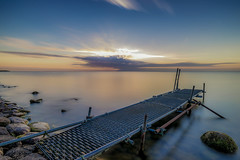 Sunrise (not a good one) (mcalma68) Tags: lake longexposure sunrise pier jetty volendam edamvolendam
