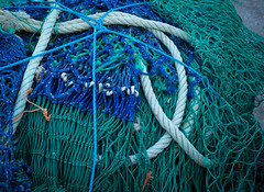 Nets 1 (S's images) Tags: blue green fishing nets knots abstract brixham harbour