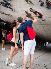 20160814 - 15 - Chicago - Day 3.jpg (Kayhadrin) Tags: reflection illinois chicago cloudgate usa unitedstates us